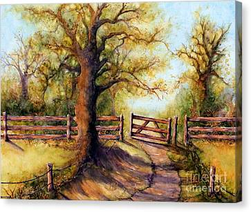 Greener Pastures Canvas Print by Janine Riley