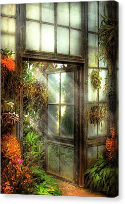 Suburbanscenes Canvas Print - Greenhouse - The Door To Paradise by Mike Savad