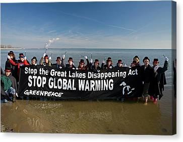 Greenpeace Campaigners Canvas Print