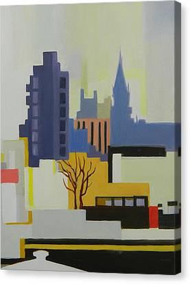 Greenpoint From Pulaski Bridge Canvas Print