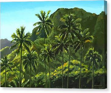 Oahu Canvas Print - Greens Of Kahana by Douglas Simonson