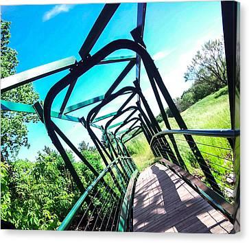 Greenspace Bridge Canvas Print