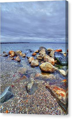Canvas Print featuring the photograph Greenwich Bay by Alex Grichenko
