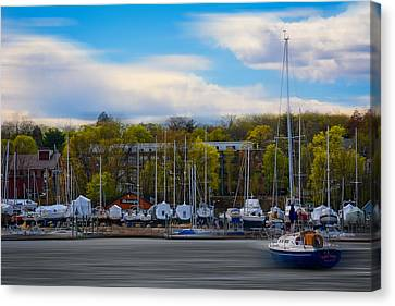 Greenwich Marina Canvas Print by Lourry Legarde