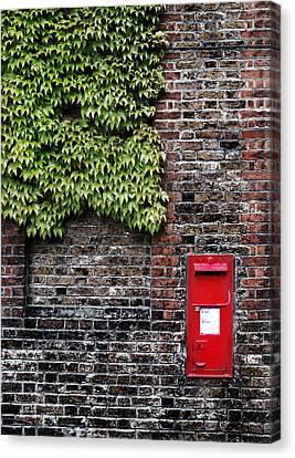 Greenwich Post Box Canvas Print by Mark Rogan