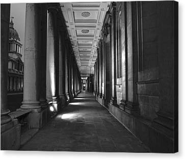 Greenwich Royal Naval College Hdr Bw Canvas Print by David French