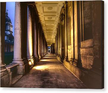 Greenwich Royal Naval College Hdr Canvas Print by David French