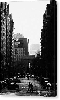 Greenwich Village With Washington Square Arch In Background New York City Canvas Print by Joe Fox