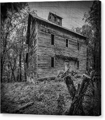 Greer Mill Black And White Canvas Print by Paul Freidlund
