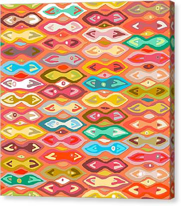 Greeshma Ikat Canvas Print by Sharon Turner