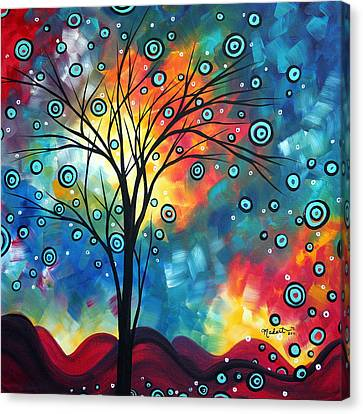 Greeting The Dawn By Madart Canvas Print by Megan Duncanson