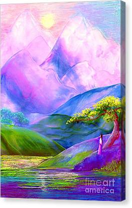 Canvas Print featuring the painting Greeting The Dawn by Jane Small