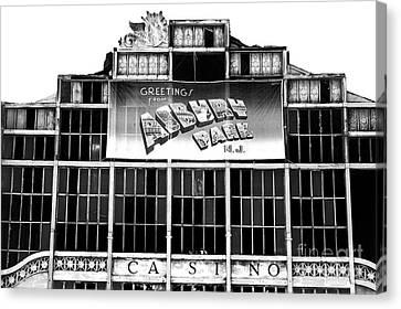 Asbury Park Casino Canvas Print - Greetings From Asbury Park by John Rizzuto