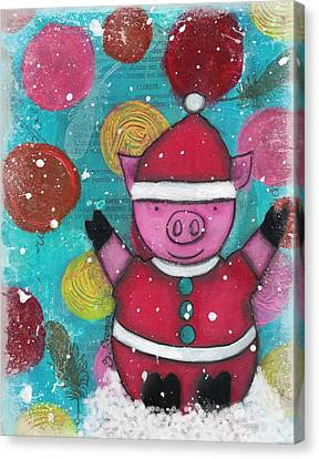 Canvas Print - Greetings From The North Pig by Barbara Orenya