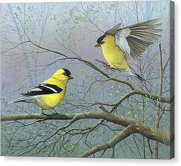 Canvas Print featuring the painting Greetings My Friend by Mike Brown