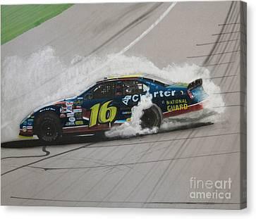 Greg Biffle Wins Canvas Print by Paul Kuras