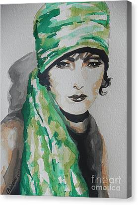 Greta Garbo Canvas Print by Chrisann Ellis