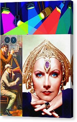 Greta Garbo In Mata Hari Canvas Print by Art Cinema Gallery