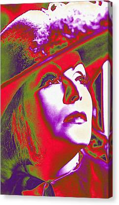 Greta Garbo In Queen Christina Canvas Print by Art Cinema Gallery