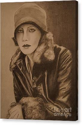 Greta Garbo Canvas Print by Lorelle Gromus