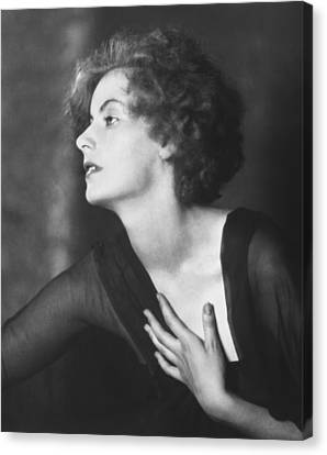 Greta Garbo Portrait Canvas Print by Arnold Genthe