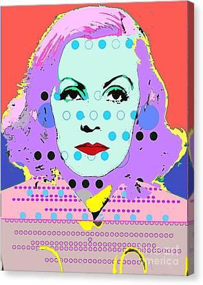 Greta Garbo Canvas Print by Ricky Sencion