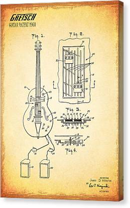 Gretch Guitar Patent 1960 Canvas Print by Mark Rogan