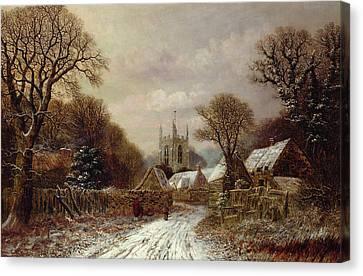 Bare Trees Canvas Print - Gretton In Northamptonshire by Charles Leaver