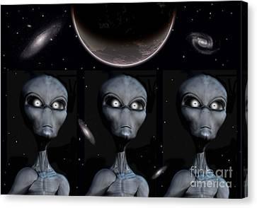 Grey Alien Clones Canvas Print