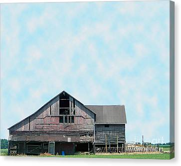 Canvas Print featuring the photograph Grey Barn by Gena Weiser