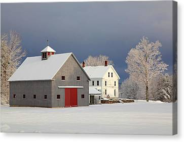Canvas Print featuring the photograph Grey Barn by Larry Landolfi