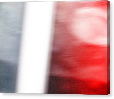 Grey Becoms Red Canvas Print