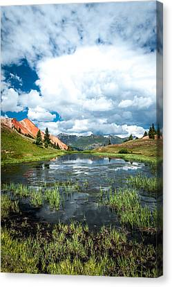 Canvas Print featuring the photograph Grey Copper Gulch by Jay Stockhaus