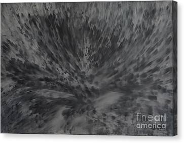 Canvas Print featuring the painting Grey Emotions In Motion by Stuart Engel