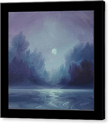 Grey Fire V Canvas Print by James Christopher Hill
