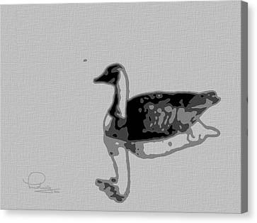 Canvas Print featuring the photograph Grey Goose by Ludwig Keck