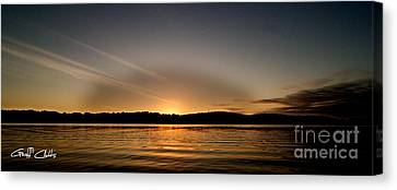 Grey Heaven - Sunrise Panorama Canvas Print by Geoff Childs