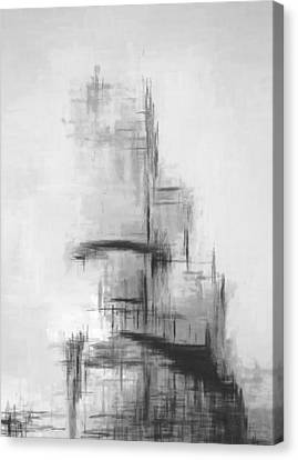 Grey Helix Canvas Print by Lonnie Christopher