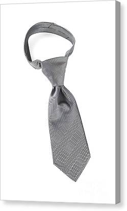 Grey Necktie With Windsor Knot Canvas Print by Colin and Linda McKie