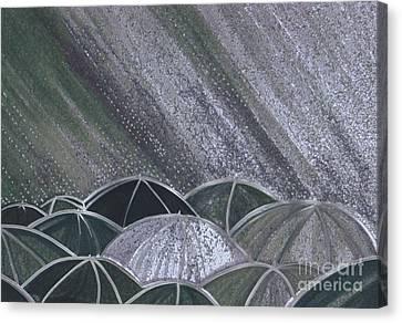 Grey Rain 2 By Jrr Canvas Print by First Star Art