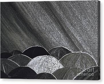 Grey Rain Art In Process  By Jrr Canvas Print by First Star Art