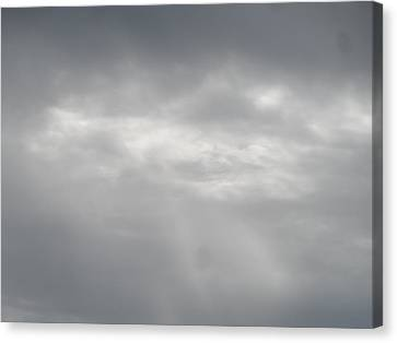 Grey Skies Above Canvas Print by James Potts
