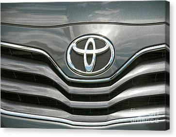 Grey Toyota Grill And Emblem Smile Canvas Print