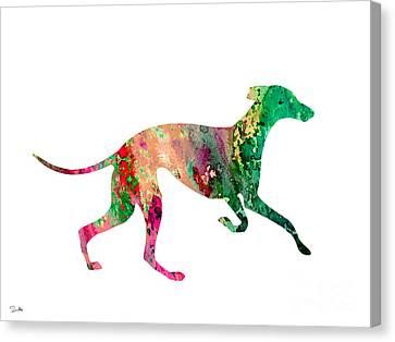 Greyhound 2 Canvas Print by Luke and Slavi