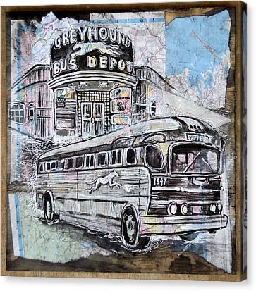 Greyhound Bus Canvas Print by Alexa Nelipa