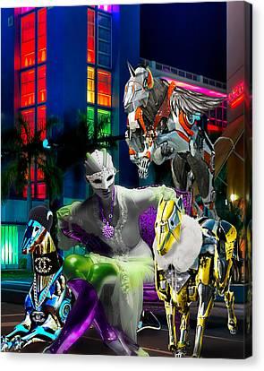 Greyhound Princesse Canvas Print