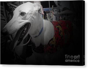 Greyhound Canvas Print - Greyhound Rescue 8 by Jackie Bodnar