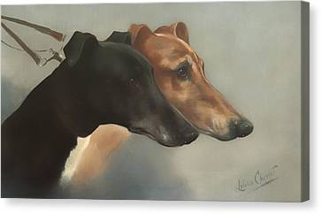 Greyhounds  Canvas Print by Mountain Dreams