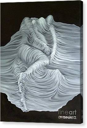 Canvas Print featuring the painting Greyish Revelation by Fei A