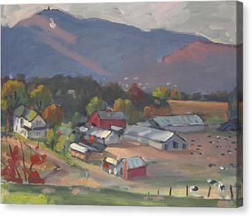 Greylock From The Ziemba Farm Canvas Print by Len Stomski